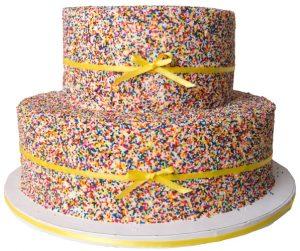 Custom Cake with Sprinkles