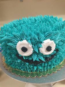 Custom Cookie Monster Cake