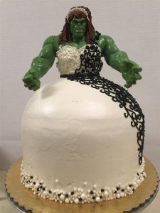 Hulk Bride Cake